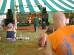 Held at Cheddar, Somerset in June,2002  Here in Henry's Beard Cafe Tent