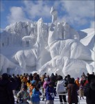elaborate creations out of snow