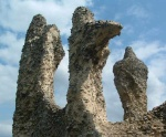 this strange bird-like shape was part of the extensive ruins of the abbey at Bury St Edmunds