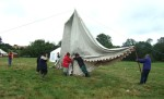a balancing act with the large marquee when first getting it up in the air