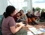 Leslie running a session on home education and the current threats to people being able to teach their children at home