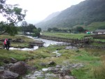 and the two footbridges close to Seathwaite farm