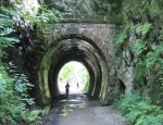 the sunniest day was my journey home, cycling to Penrith, this part along the old railway line from Keswick to Theckeld