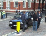 confrontation by the taxi