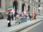 the Camp Ashraf protest in King Charles Street London