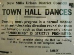a motley collection of notices, plaques and wall-slogans  this prohibiting smooching is now in the excellent New Mills Heritage Centre along with the next three items