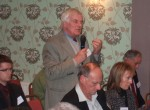 SELRAP member Keith Thorp from Colne making a point -