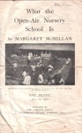 a 1919 leaflet about the value of open air nursery schools