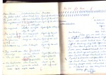 here they didn't like the way I wrote my 'f's - see my way on the left hand side - how absurd! In the first year I was made to write out again my general science homework because I managed to blot it every time - I struggled with fountain pens and it was before Biros came into use.
