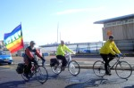 Day One Saturday 3rd April Dover to Lydd Dave & Pam accompanying me at the start of the ride on the Saturday morning. Dave and Pam kindly put me up Friday night, enabling me to dry out from the soaking on the Romney Marshes enroute to Dover