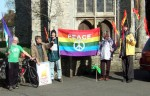when I got to Lydd there was a welcome party outside the parish church