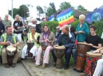 the day started off with a drumming workshop