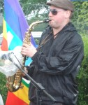Jim on the sax
