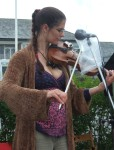 Elizabeth on the violin