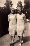 Two flappers, Caroline Amelia Borrett on left & friend