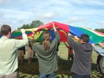 one day's sessions started off with parachute games