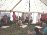 during this workshop in the main tent we'd split into small groups 
