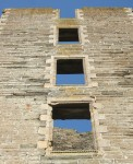a ladder of windows in the ruins of Thurso Castle