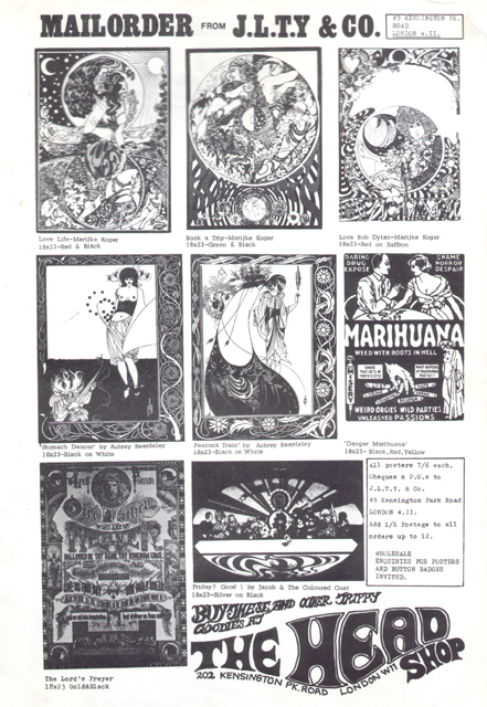 Head Shop advert for posters