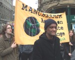 Manchester action on climate change banner
