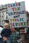 another placard about tax
