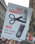 cutting trident is a cut we do want ...and it would remove the need for so many other cuts but governments are wedded to the military and the arms manufacturers like BAE  For more on the Campaign to Scrap Trident click here