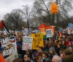 15th February 2003, when up to 2,000,000 demonstrated in London and many more millions worldwide   here, nearing the end of the march coming up to Hyde Park Corner