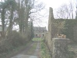 the entrance to Glyn Abbey from the road