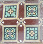 a Victorian tile in the mansion