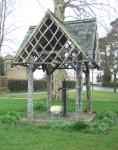 next day it was a cycle to Swindon, on the way seeing this village pump protected by an attractive roof