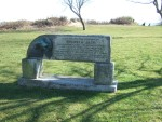 there's an excellent cycle path along Swansea Bay and along it I came across this memorial to 'Swansea Jack'