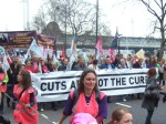 the front of the March, 'cuts are not the cure'