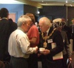 Before it all got underway, David Walsh with Anthony Beckett, Mayor of Pendle