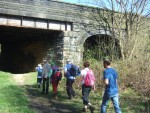 here some of the group are going under Barrowford Road Bridge