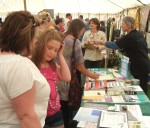 a general view of our CND stall in the Community Tent. We had plenty of interest