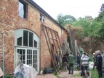 there were a number of outbuildings, one rented from the Community as an art studio