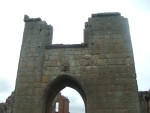 looking thru the archway of the ruined Castle