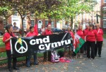 Welsh CND had a good turnout and sang harmoniously