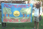 the Somerset anti nuclear alliance banner