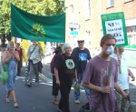 members of the Green Party were on the march