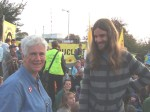 On the Monday we had a very successful blockade of the power station with about 400 attending. Here activists Angie and Chris. Also participating in the blockade were the band 'Seize the Day' who Chris now plays with.