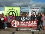 This protest was organised by Yorkshire CND and a number of other banners were in evidence