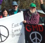 David Penney from East Lancs CND in the green hat