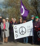 Walter Wolfgang next to the ELCND banner