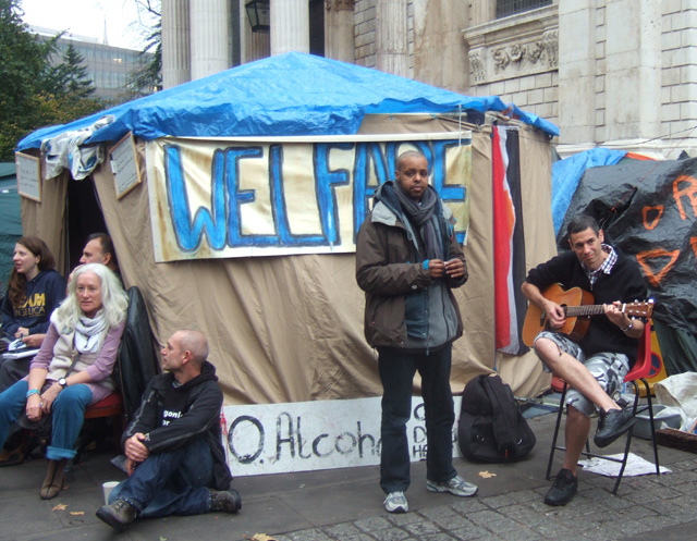 the welfare tent
