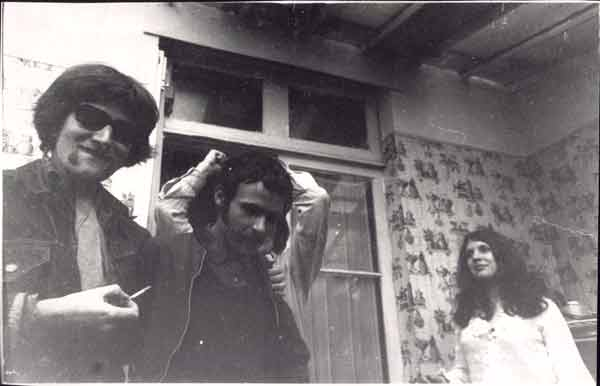 ken, phil & celia in goodmayes, 1968 - photo from ken brown