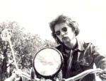 i wonder who'd just seen 'easyrider' - ken on a motorbike