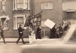 a cnd march in east ham - i'm told a young glor is on one of these photos