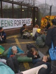 Lock on at the North Gate to Faslane, all the following photos are at the North Gate