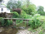 a small clapper bridge at Bank Newton